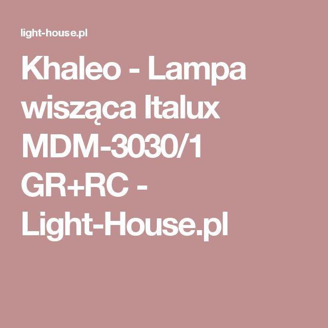 Khaleo - Lampa wisząca Italux MDM-3030/1 GR+RC - Light-House.pl