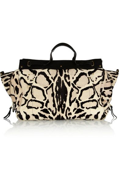 JÉRÔME DREYFUSS Carlos animal-print calf hair tote