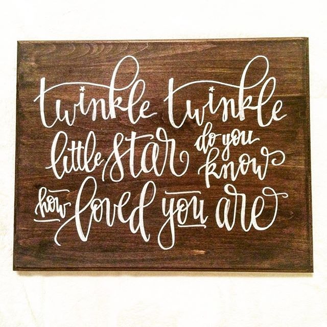 ...And I'm calling it a night. #inkwellLA #twinkletwinklelittlestar #handlettered #moderncalligraphy #etsynursery