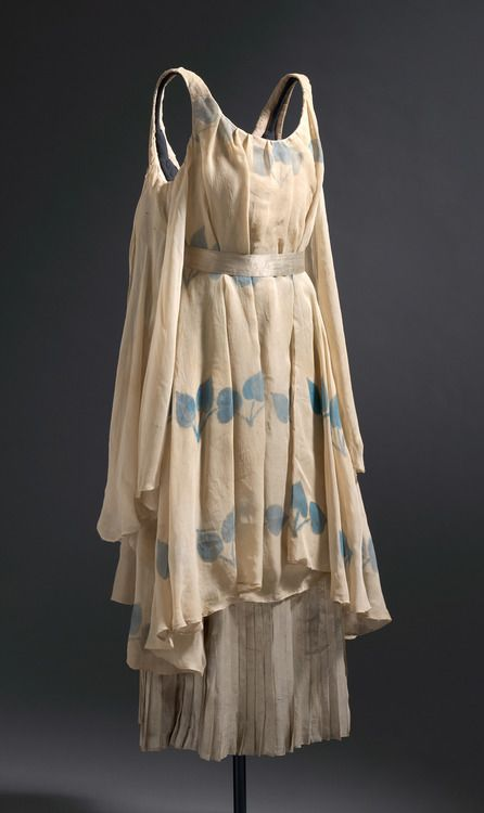 """Léon Bakst, Costumes for a Nymph from """"The Afternoon of a Faun,"""" c. 1912, silk chiffon, paint, lamé, metallic ribbon, cotton, National Gallery of Australia, Canberra"""