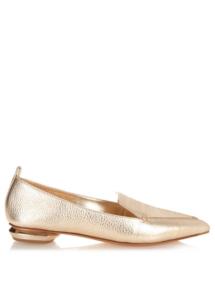Beya metallic grained-leather loafers	 | Nicholas Kirkwood | MATCHESFASHION.COM US