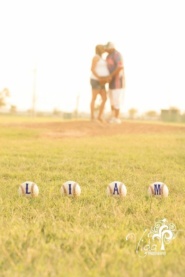 Outdoor-Baseball-Maternity Photography-by Rosanna Castillo