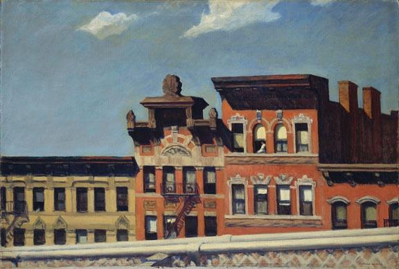 Edward Hopper, From Williamsburg Bridge, 1928, huile sur toile, 73,7 x 109,2 cm. New York, The Metropolitan Museum of Art ; George A. Hearn Fund, 1937 (37,44). Image © The Metropolitan Museum of Art / source : Art Resource / Photo RMN.