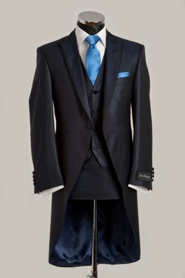 Silk morning tail suit navy blue  LOVE the Style