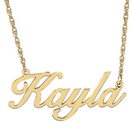 Custom Gold Vermeil Script Name Pendant Necklace - click/tap to personalize and buy