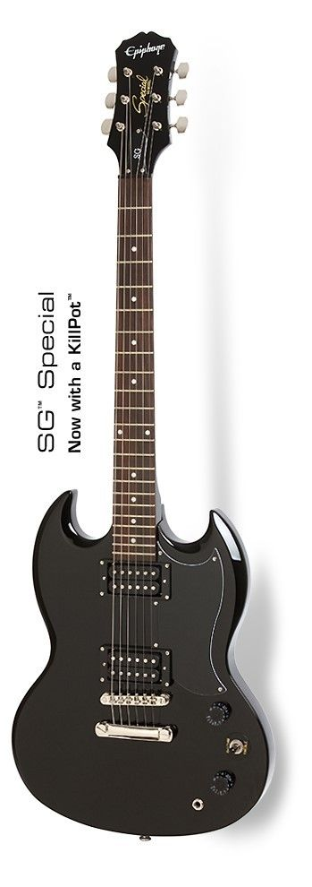Epiphone SG Special (Ebony) With Killpot Electric Guitar. This is a great guitar and im so glad to have this model.