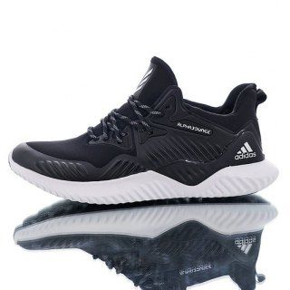 772414d55 Mens Winter Jogging Shoes Adidas Alphabounce Beyond M Elastic face black  white B76047