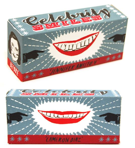 funny hand illustrated packaging