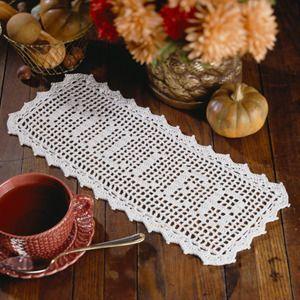 Filet Family Name Thread Crochet Pattern ePattern