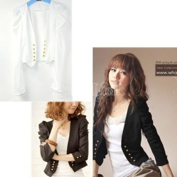 Lady Uniforms Long Sleeve Shrug Shoulder Western Suits Blazer Short Coat Jacket