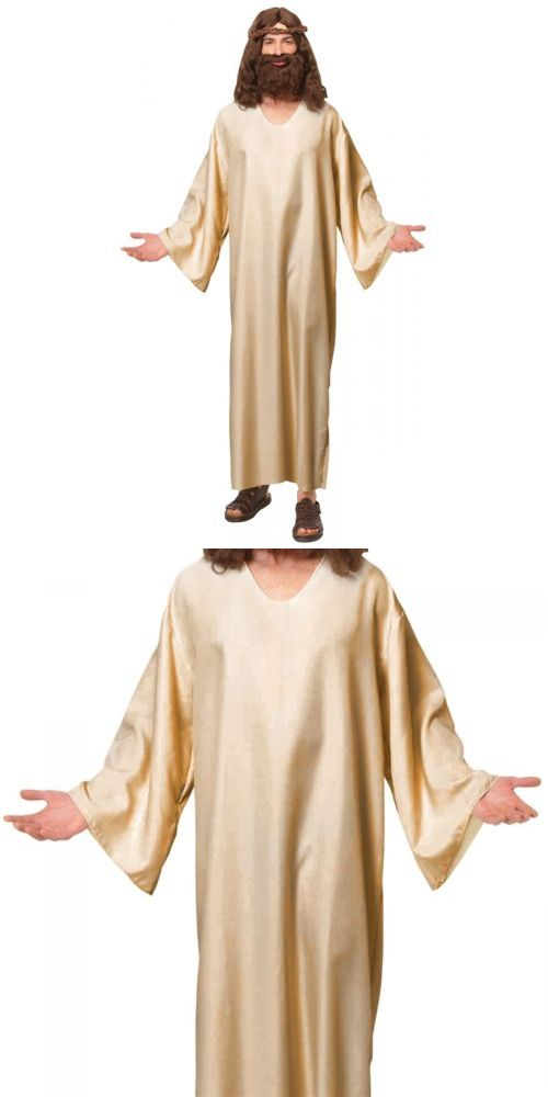 Men Costumes: Jesus Costume Adult Robe Easter Halloween Fancy Dress -> BUY IT NOW ONLY: $31.49 on eBay!