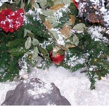 """How to make fake snow with baking powder. I don't know if this works or looks good but I wanted to """"book mark"""" this tutorial to try in the future.Fake Sprays, Jointed Compound, Baking Sodas, White Glue, Fake Snow, Wintersnow Ideas, Snow Machine, Christmas Ideas, Sprays Snow"""