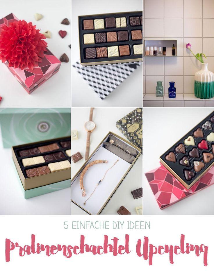 Wir zeigen euch 5 DIY Ideen zum Pralinenschachtel Upcycling - nutzt die schönen Schachteln von Planète Chocolate ganz einfach weiter!