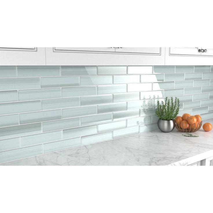 Bodesi vesper 3 in x 12 in glass tile for kitchen