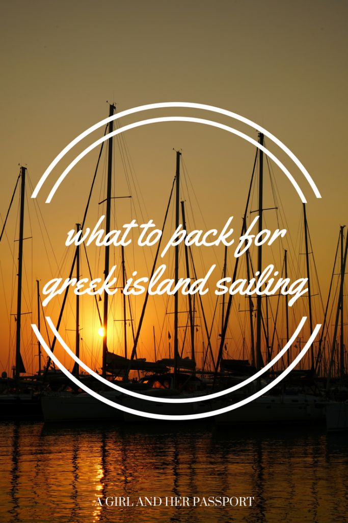 Packing for a Greek island sailing trip is not as easy as it seems. Learn from my mistakes and pack just what you need!
