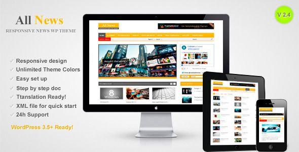All News - Responsive WordPress News Theme . All News - Responsive WordPress News Theme