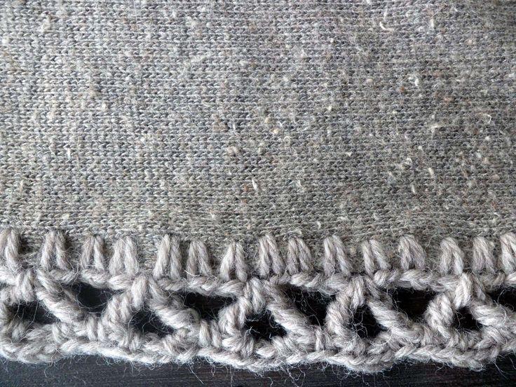 omⒶ KOPPA: virkatut REUNAT - Grey dress edging