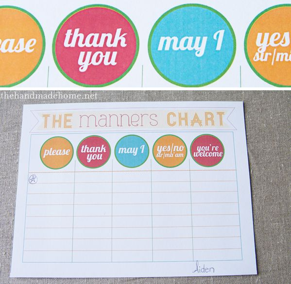 manners + printables | the handmade home