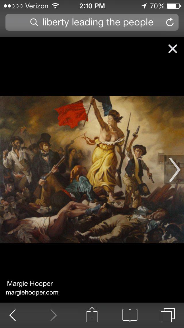 Eugene Delacroix  liberty leading the people 1830 romanticism