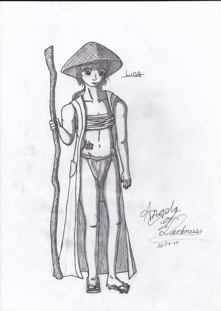 This is a monk I played in rpg.. Her name is Ling..