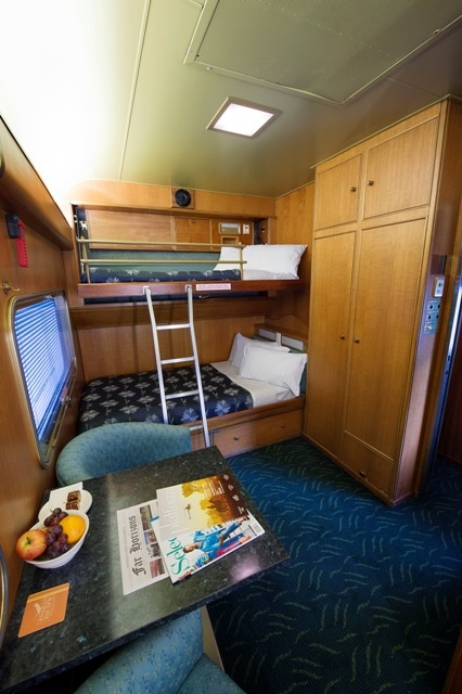 Gold Service Superior Cabin on the Ghan and Indian Pacific