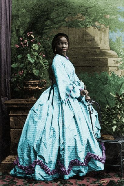 "Lady Sarah Forbes Bonetta Davies, photographed by Camille Silvy, 1862 Sarah Forbes Bonetta Davies was a child born into a royal West African dynasty. She was orphaned in 1848, when her parents were killed in a slave-hunting war. She was around five years old. In 1850, Sarah was taken to England and presented to Queen Victoria as a ""gift"" from the King of Dahomey. She became the queen's goddaughter and a celebrity known for her extraordinary intelligence."