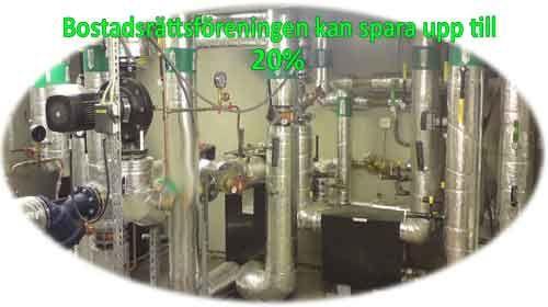 Bostadsrättsföreningar kan spara upp till 20% på energikostnaden med CleanSys metoden.