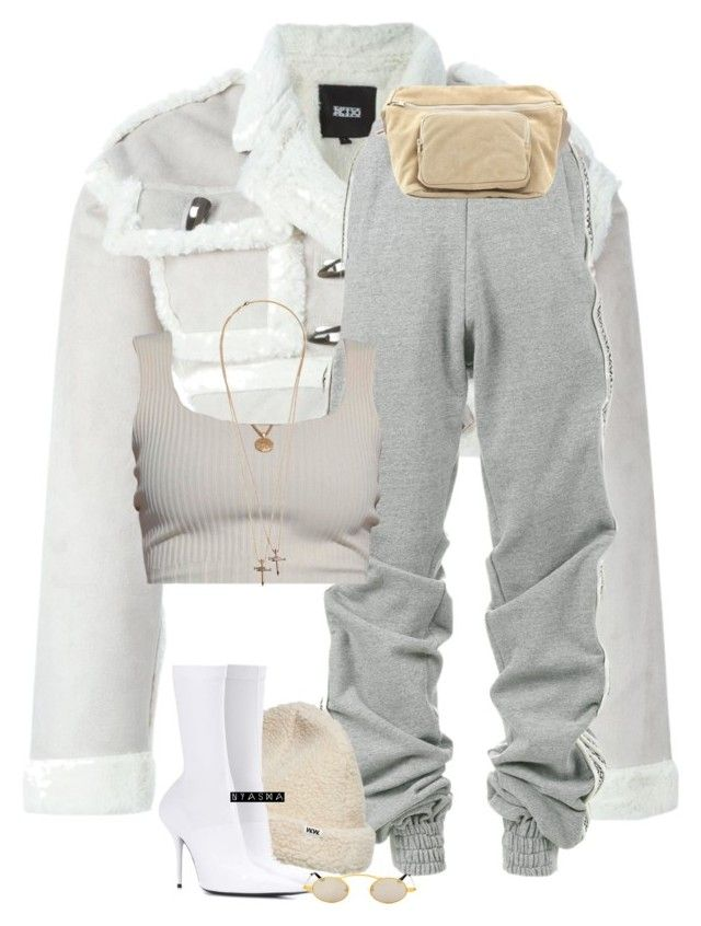 """""""Untitled #499"""" by nyashaa ❤ liked on Polyvore featuring KTZ, Y/Project, Wood Wood, Balenciaga, Roberi & Fraud, Yeezy by Kanye West and Dsquared2"""