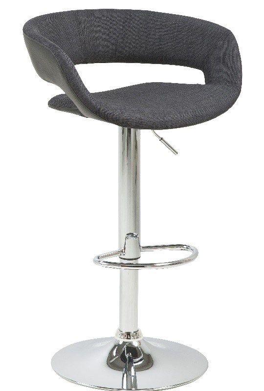 Kline Barstol - Antrasittgrå - To behagelige barstoler med kunstskinn på sete og rygg. Hvil føttene på fotstøtten og hev og senk den helt enkelt takket være gasspatronen.
