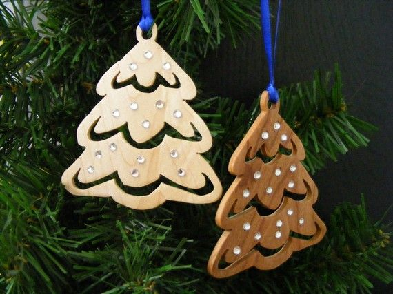 Wooden Christmas Ornament by KNWoodworking on Etsy, $12.00
