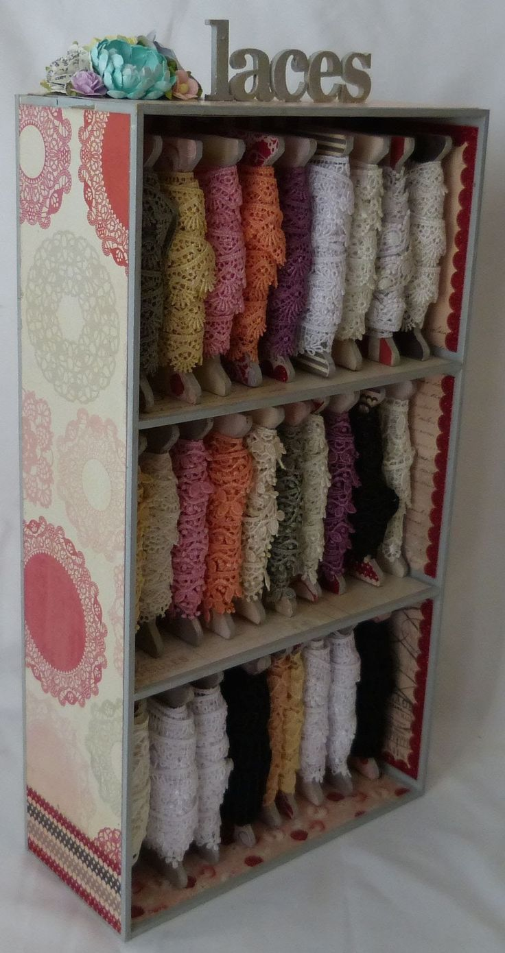 Altered lace storage finished project