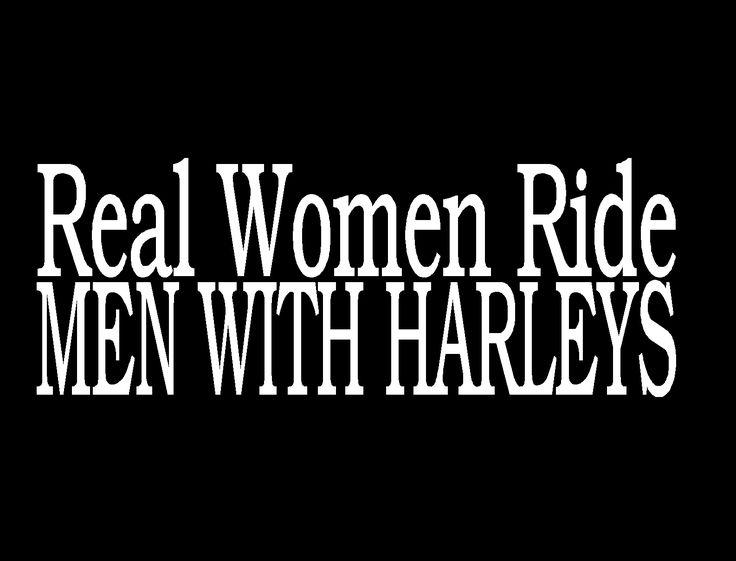 Cre8tive TZ - Real Women Ride Men Who Ride Harleys Funny Womans Harley Davidson Tshirt