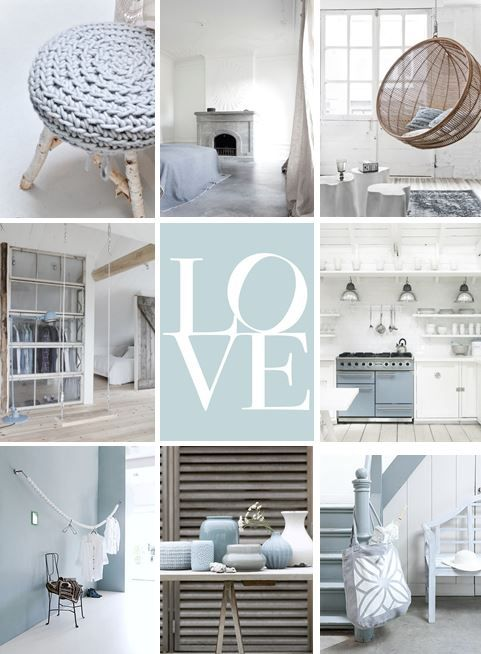 moodboard - soft blue home