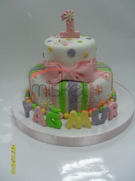 Bebek / Çocuk Pastaları > Kız Çocukları İçin > 1 Yaş Çiçekli Pasta