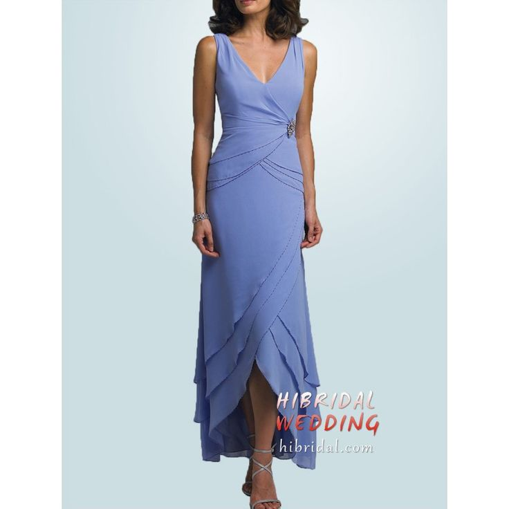Image detail for -Unusual Tea Length Beach Wedding Mother of the Bride Dress h2mmc2