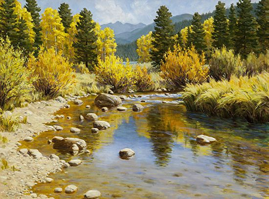 Golden Reflections by Sallie Smith Oil ~ 30 x 40