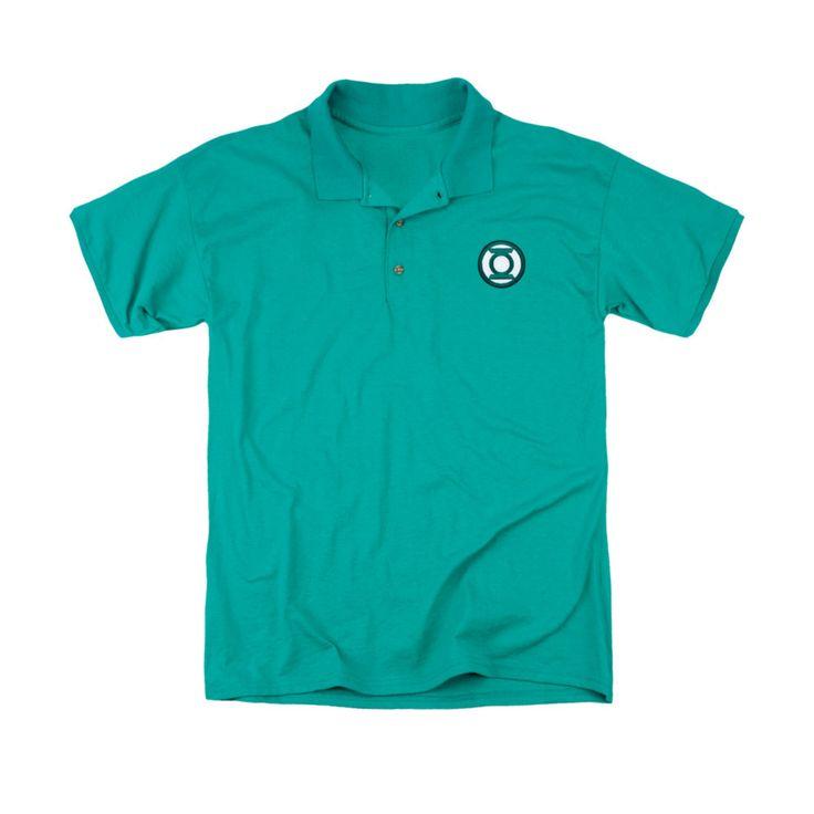Green Lantern Embroidered Mens Polo Shirt