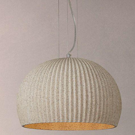 Buy John Lewis Oscar Stone Ribbed Pendant Ceiling Light, Natural Online at johnlewis.com