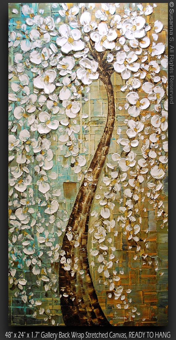 Tree painting with beautiful texture.