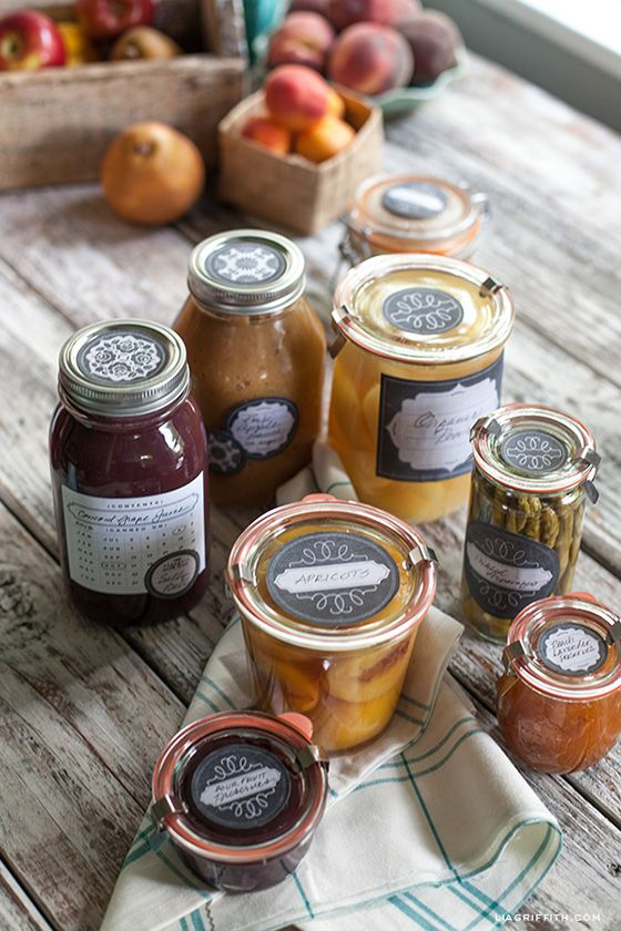 Print These Now!  Free Freezer and Canning Labels from Lia Griffith