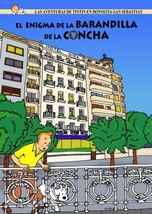 fake Tintin covers featuring Donostia by Óscar Alonso.