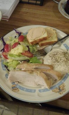Yummy dinner with homeaide jalapeno protein bread n calmash! #HCGrecipes4u #hcgdiet