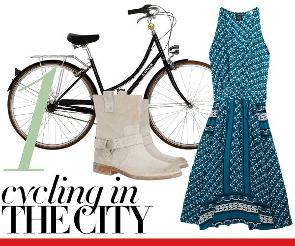 Most Wanted — A Perfect 10: Our Favorite, Ready-For-Anything Summer Dresses: Summer Dresses, Lam Dresses, Derek Lamb, Prints Dresses, Biker Boots, Editing Bike, The Cities, Cycling Style, Blondes Episode