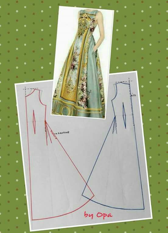 Long dress pattern