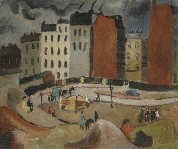 Sandpits by the Seine (date unknown) by Christopher Wood, St Anthony's College, Oxford