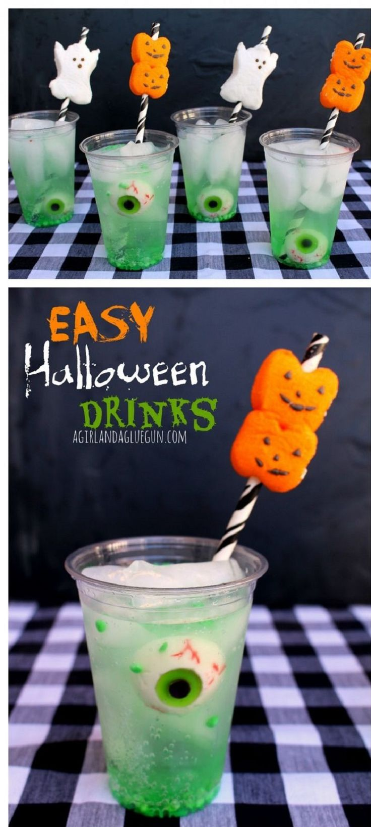 Easy Halloween Drink With Peep Straws Drinks Jelly And