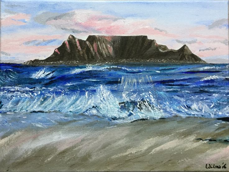 Table Mountain, Cape Town. South Africa.  Acryl, not for sale