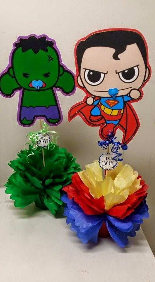 SuperHero-Spiderman-Hulk-Centerpieces.jpg 528×960 pixels