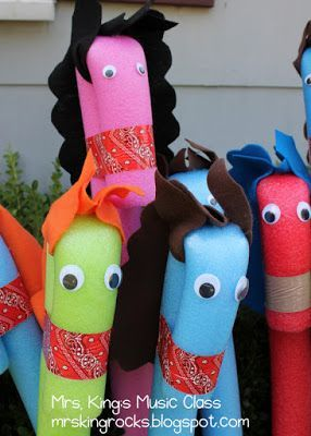 Mrs. King's Music Room: Pool Noodle Ponies: What to do with Your New Herd