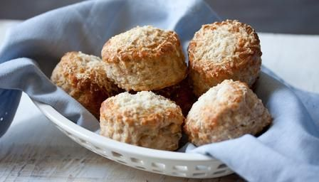Wholemeal cheese scones - BBC Good Foof - Paul Hollywood. Yum. And not just the scones. ;)